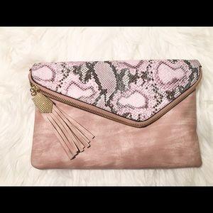 Handbags - Gorgeous Blush Pink Clutch